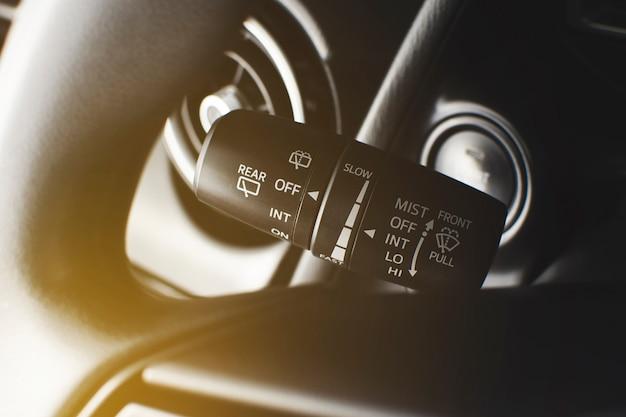 Interrupteur de commande du balai d'essuie-glace avec interrupteur à bascule de réglage de la vitesse sur le côté gauche du volant