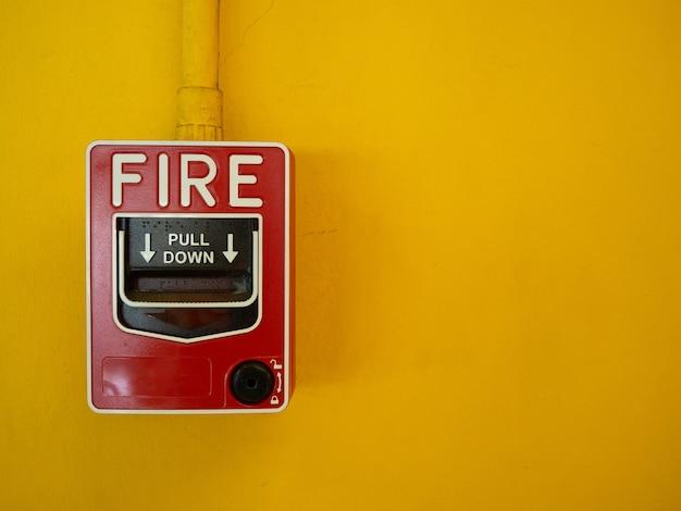 Interrupteur manuel d'activation d'alarme incendie.