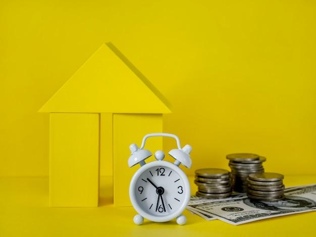 Investissement immobilier de concept d'hypothèque financière
