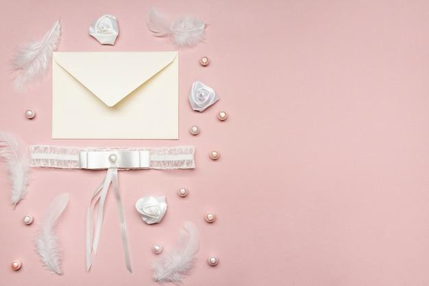 Invitation de mariage élégante avec espace copie