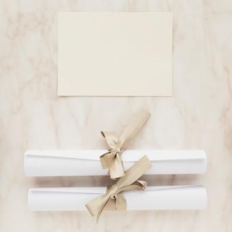 Invitation de mariage vue de dessus