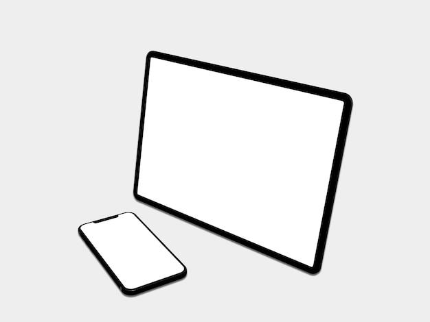 Ipad, téléphone avec écran vide