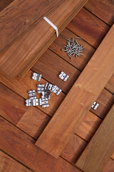 Ipe deck wood vis d'installation clips de fixation
