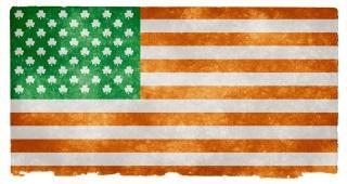 Irish american flag grunge grain