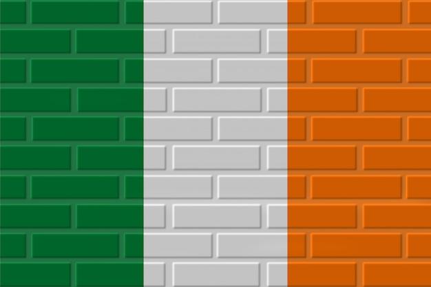 Irlande drapeau illustration de brique