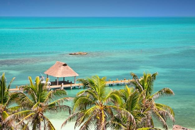 Isla contoy, mexique, vue à vol d'oiseau
