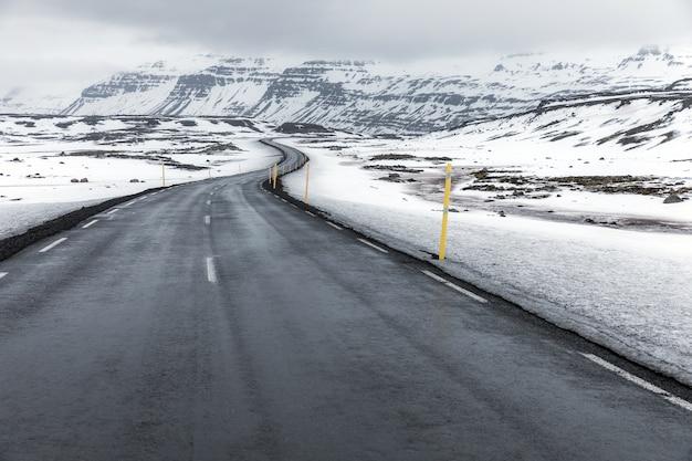 Islande paysage d'hiver route