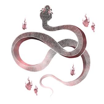 Isolat de matériau de serpent
