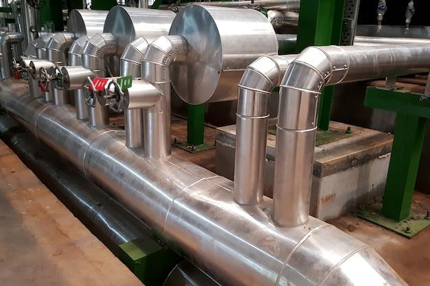 Isolation de tuyau de vapeur de vanne de régulation pour turbine à vapeur de centrale électrique