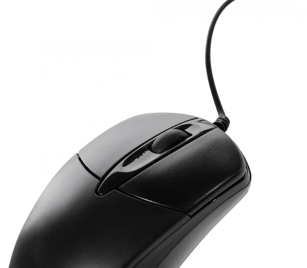 Isolé sur une souris d'ordinateur blanche