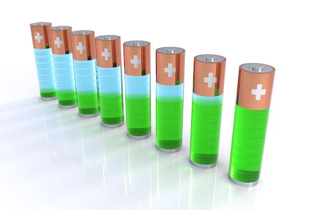 L'isolement de l'indicateur de batterie transparent est un concept de graphique à barres