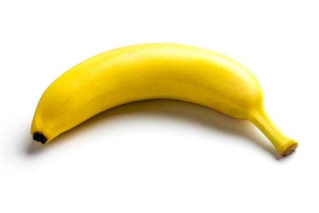Isoler la banane jaune sur fond blanc