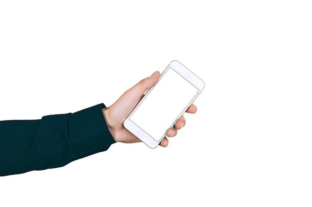 Isoler le smartphone entre les mains de l'homme