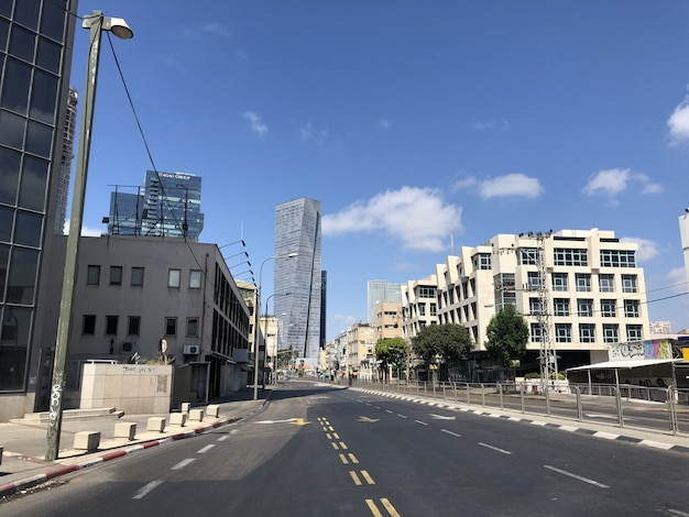 Israël. les rues vides de tel aviv pendant la fête nationale de yom kipur