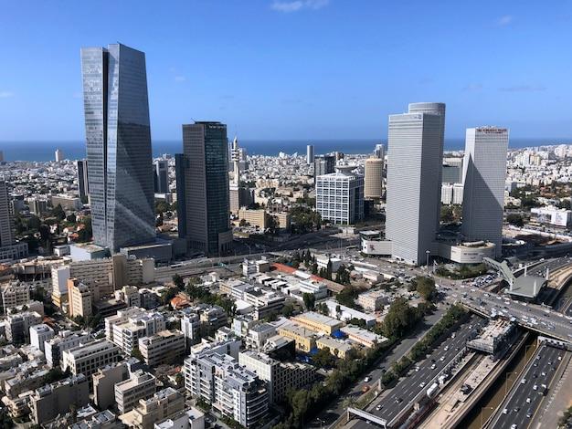 Israël, vue de tel aviv d'en haut.