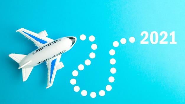 Itinéraire de vol d'avion en 2021. concept de voyage.