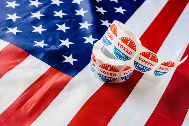 J'ai déjà rempli le devoir de voter aujourd'hui aux élections américaines.