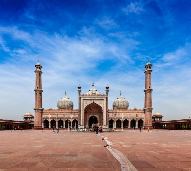 Jama masjid - la plus grande mosquée musulmane d'inde