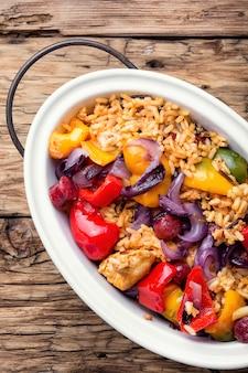 Jambalaya créole au poulet et au riz