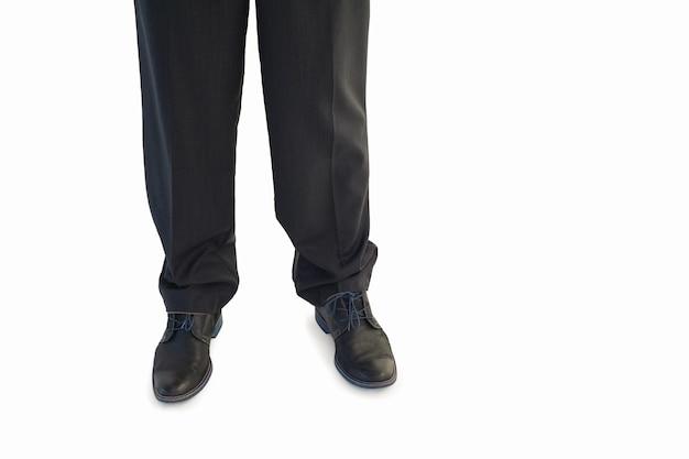 Jambes d'affaires et chaussures habillées