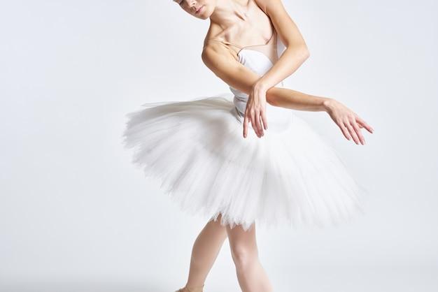 Jambes d'une ballerine en pointes