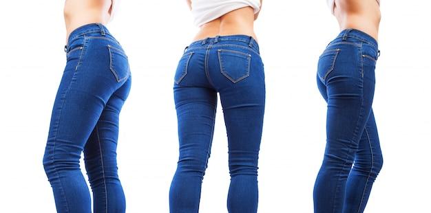 Jambes de femme dans différentes positions