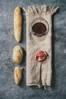Jamon et le vin