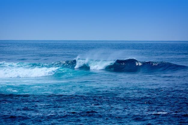 Jandia surf vagues sur la plage à fuerteventura