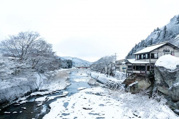 Japon paysage invisible vue depuis le pont de yamadera