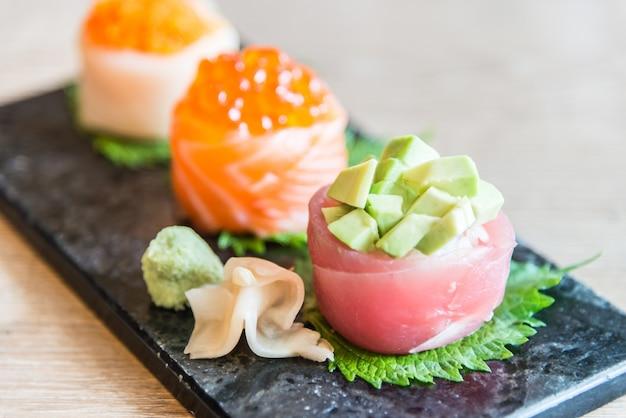 Japonais de poissons algues de fruits de mer de riz