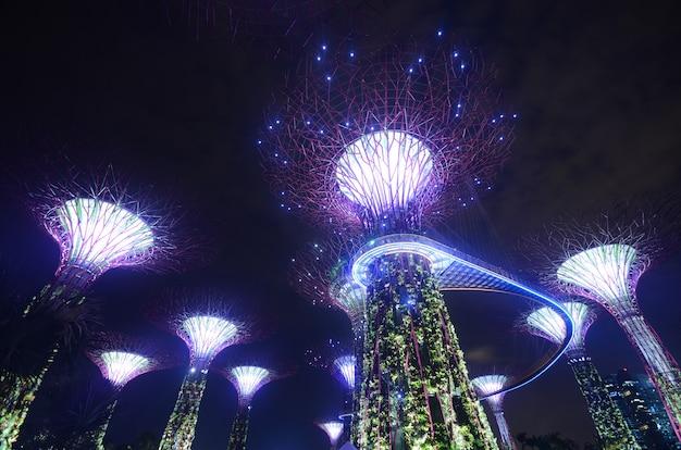 Jardin au bord de la baie à singapour