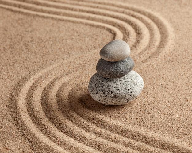 Jardin de pierre zen japonais