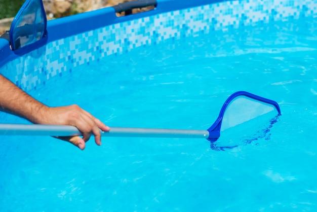 Jardin piscine piscine nettoyage de près