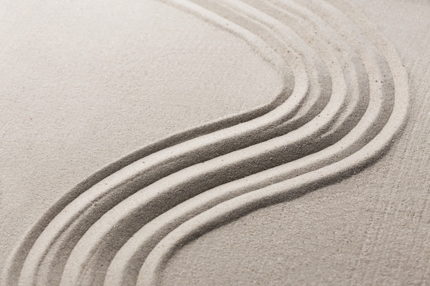 Jardin zen japonais de sable