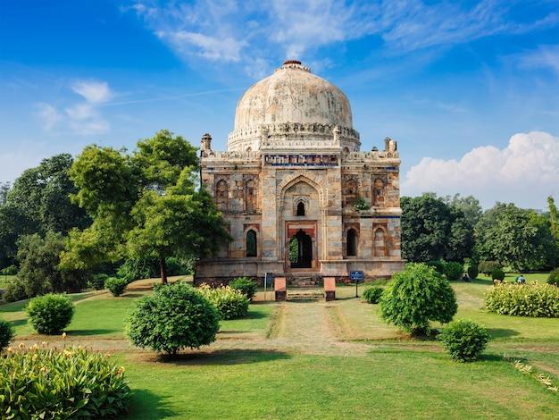 Jardins de lodi tombeaux islamiques delhi inde