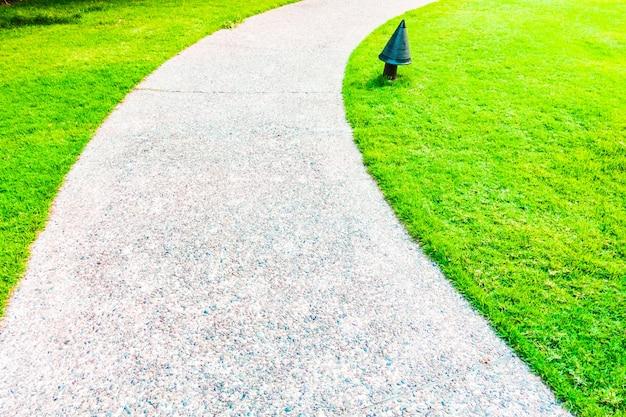 Jardins paysagers fond chemin de trottoir