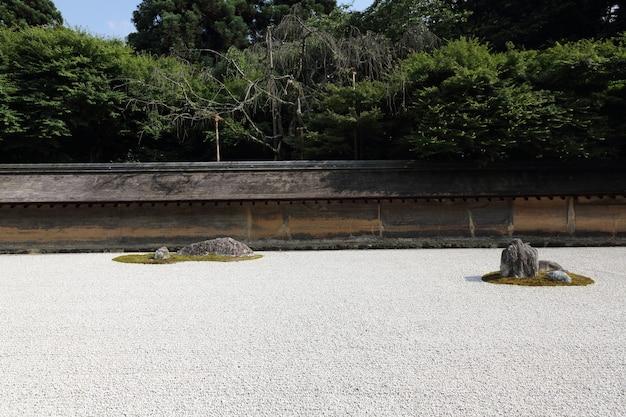 Jardins de pierre à kyoto au japon