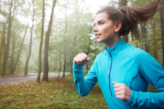 Je commence toujours une journée pour courir