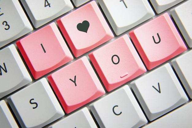 Je t'aime au clavier