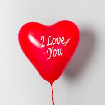 Je t'aime ballon pour la saint valentin