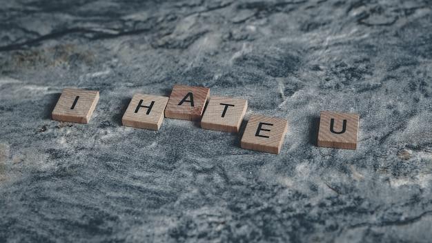 Je te déteste scrabble des mots