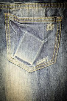 Jean vintage déchiré texture denim.