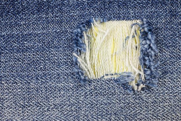 Jeans déchirés denim texture background.