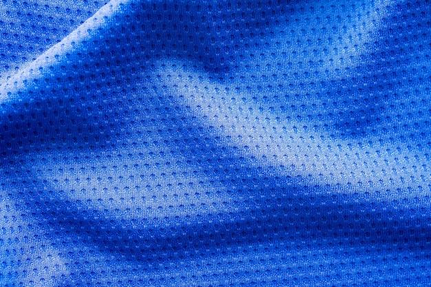 Jersey de vêtements de couleur bleue avec texture de maille d'air