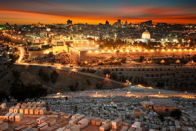 Jérusalem ville au coucher du soleil