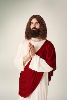 Jésus priant pour les âmes perdues