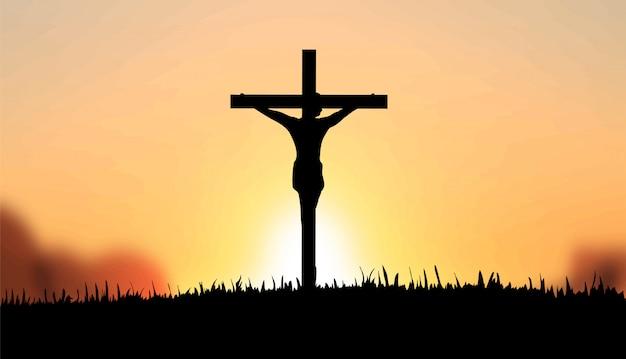 Jésus sur le vecteur de la croix