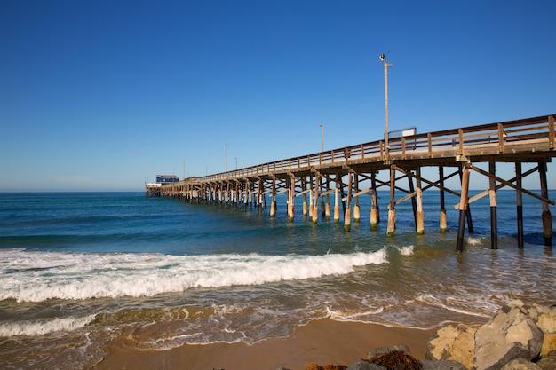 Jetée, newport, plage, californie, usa