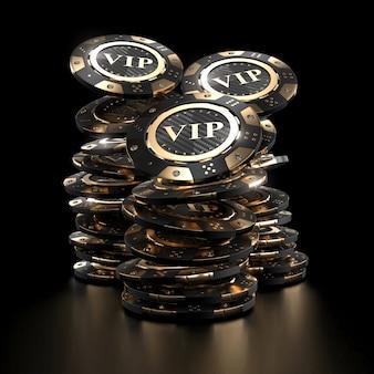 Jetons de casino doré de luxe