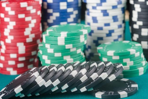 Jetons de poker. casino.